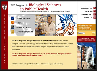 Harvard School of Public Health: PhD Program in Biological Sciences in Public Health